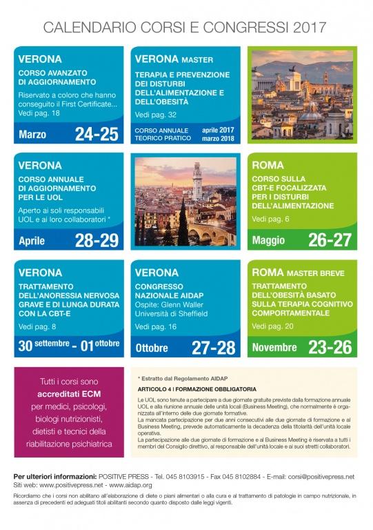 Calendario corsi e convegni 2017