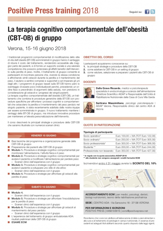 CBT-OB di gruppo